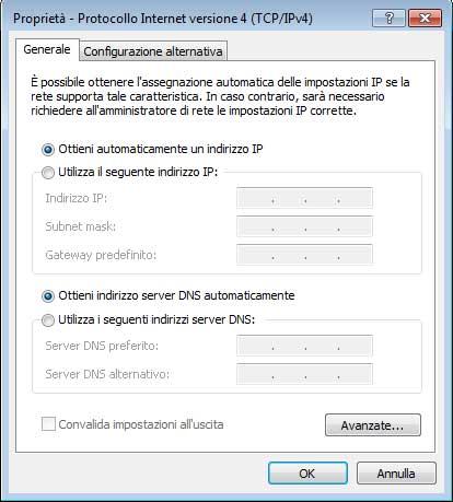 Configurazione Dns Telecom